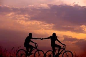 Para na przejażdżce rowerowej