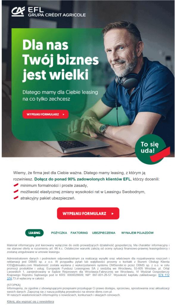 CTA na stronie Crédit Agricole