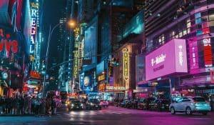 Ulica pełna neonów