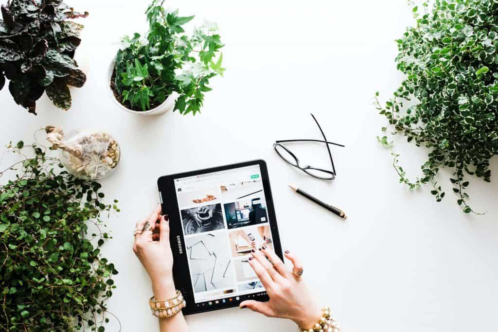 Zakupy online na tablecie
